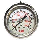 Nyomásmérő műszer 300 bar, d40