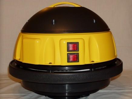 Porszívó fej 2 motoros, komplett, sárga.