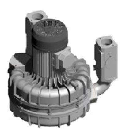 Porszívómotor aszinkron motorral, 3x400V, soros turbinákkal