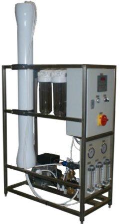 Blue clear, RO 240M Ipari  (RO) berendezés, mérőműszerrel.