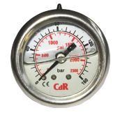 Nyomásmérő műszer  250 bar, d50